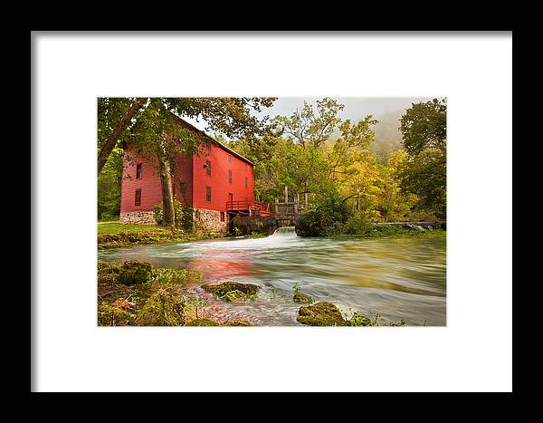 America Framed Print featuring the photograph Alley Spring Mill - Eminence Missouri by Gregory Ballos