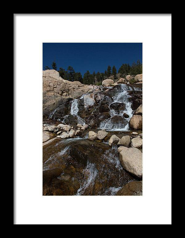 2012 Framed Print featuring the photograph Alluvial Wet Rocks by Josh Baker