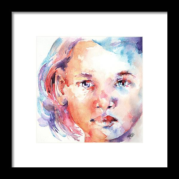 Portrait Framed Print featuring the painting Almost 2 by Stephie Butler