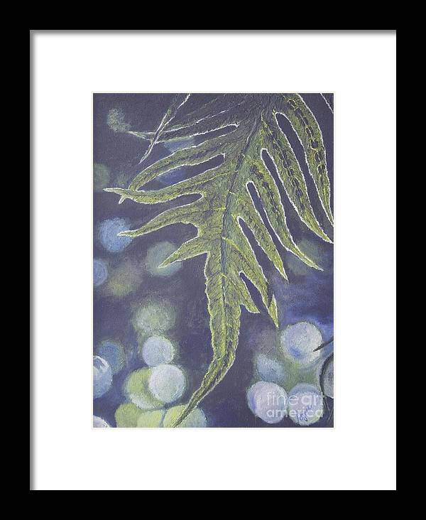 Painting Framed Print featuring the painting Alone by Agnes Rajesh