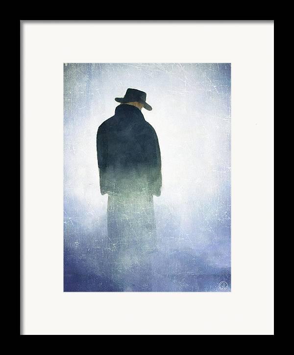Man Framed Print featuring the digital art Alone In The Fog by Gun Legler