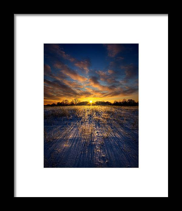 Snow Framed Print featuring the photograph Alone by Phil Koch