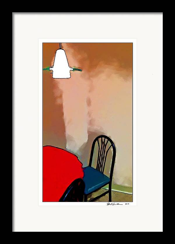 Light Framed Print featuring the painting Alone Table Light by Robert Smith