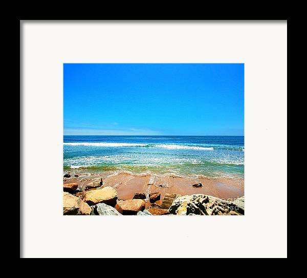 Rincon Framed Print featuring the photograph Along The Rincon California Surf Spot From The Book My Ocean by Artist and Photographer Laura Wrede