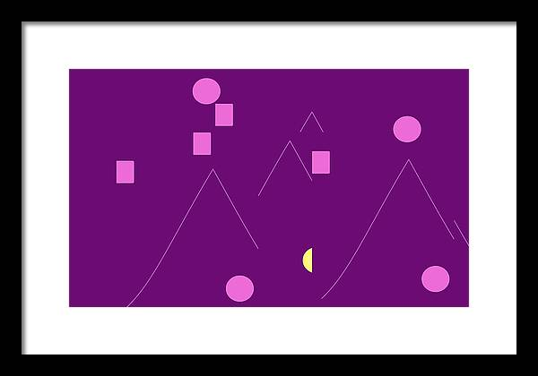 Framed Print featuring the digital art Alpine Climbers At Midnight by Cletis Stump