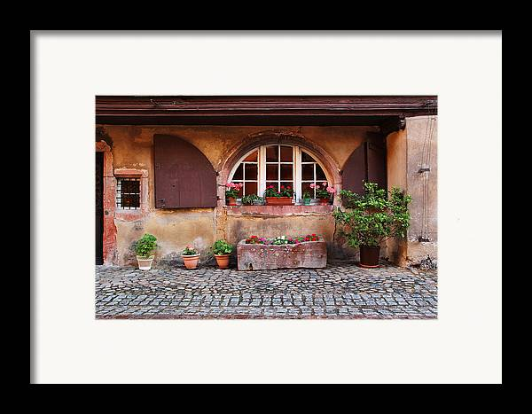 Alsace Framed Print featuring the photograph Alsatian Home In Kaysersberg France by Greg Matchick