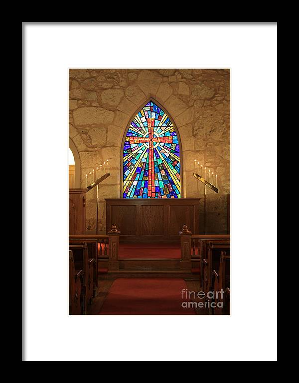 The Little Church Framed Print featuring the photograph Altar At The Little Church In La Villita by Carol Groenen