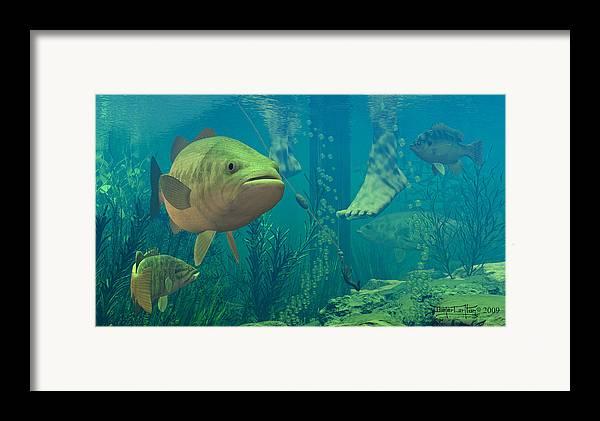 Underwater Framed Print featuring the digital art Alternate Perspective by Dieter Carlton