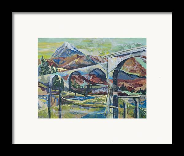 Altitude Framed Print featuring the painting Altitude by Tyler Auman