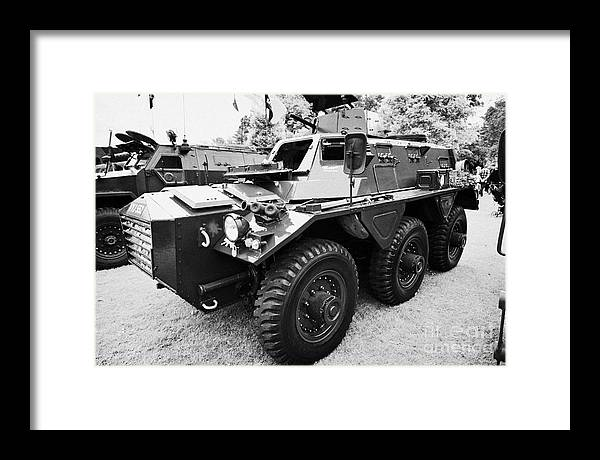 Alvis Saracen Vintage British Army Military Vehicles On Display County Down  Northern Ireland Uk Framed Print