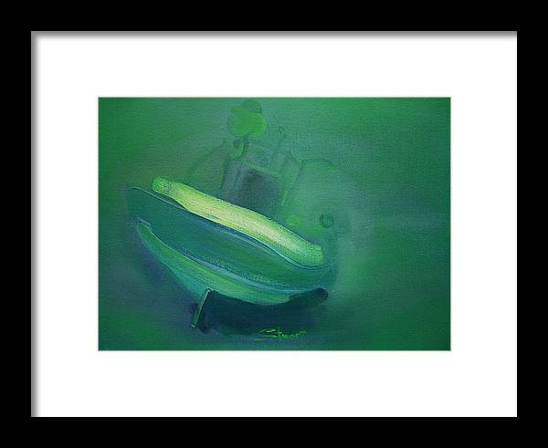 Fishing Boat Framed Print featuring the painting Alvor Working Boat by Charles Stuart