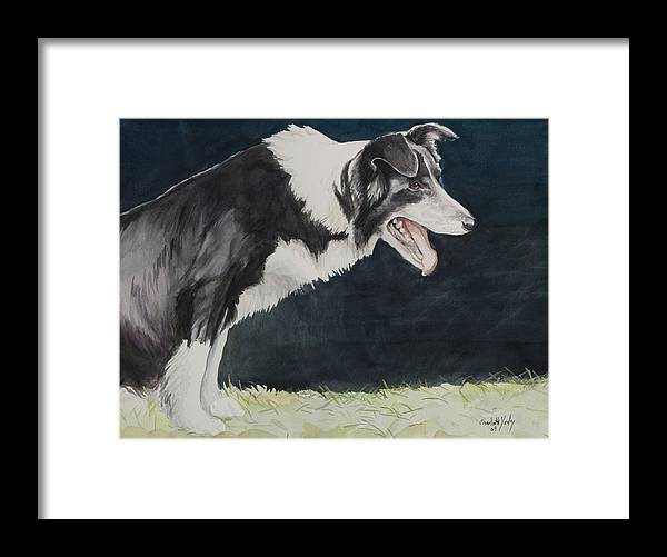 Dog Framed Print featuring the painting Always Ready by Charlotte Yealey