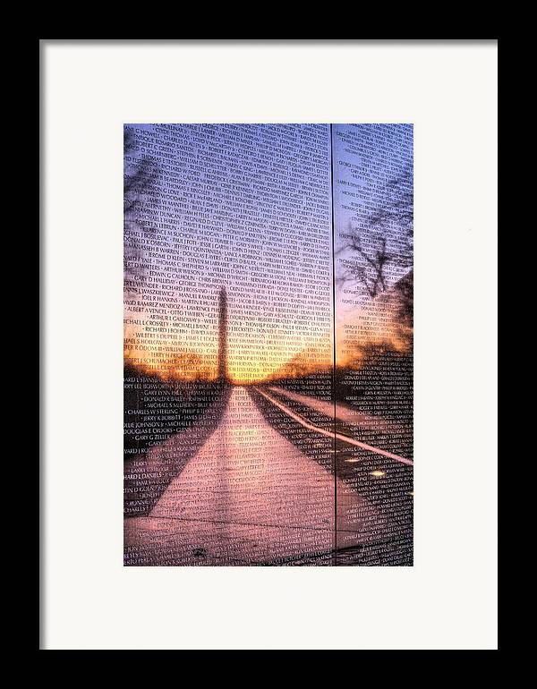 Vietnam Wall Framed Print featuring the photograph Always Remembered by JC Findley