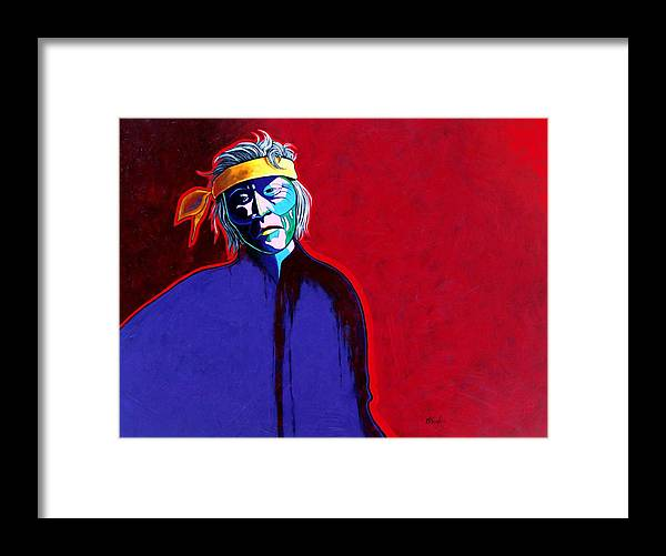Native American Indian Framed Print featuring the painting Am I So Different by Joe Triano