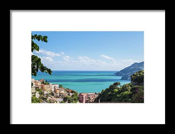 Scenics Framed Print featuring the photograph Amalfi Coast Landscape Vietri Village by Angelafoto