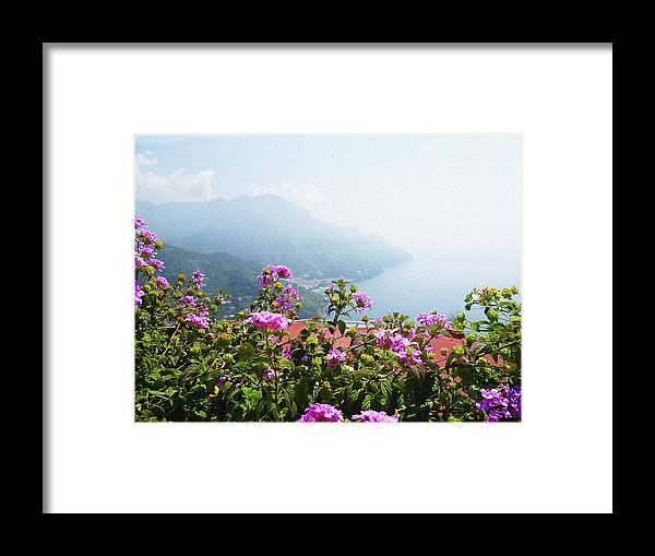 Italy Framed Print featuring the photograph Amalfi Coast View From Ravello Italy by Irina Sztukowski