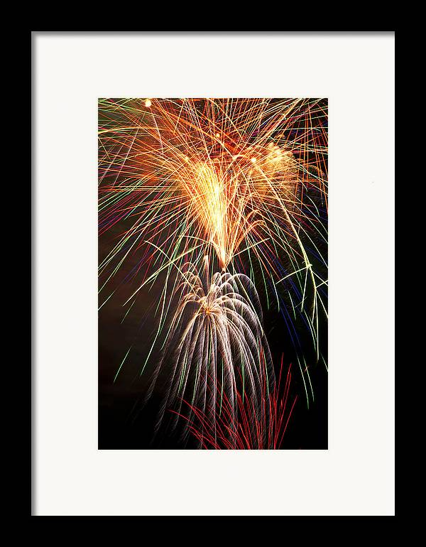 4th Framed Print featuring the photograph Amazing Fireworks by Garry Gay
