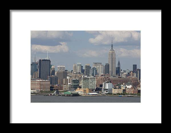 Amazing View Of Nyc Framed Print featuring the photograph Amazing View Of Nyc by D Plinth