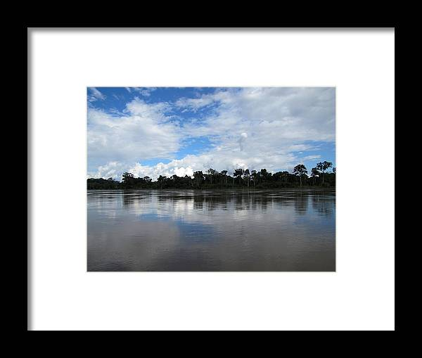 Reflection Framed Print featuring the photograph Amazon Reflections by Elizabeth Hardie