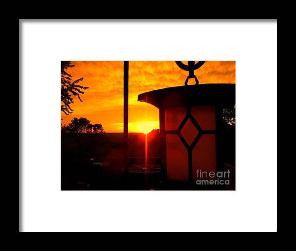 Sunset Framed Print featuring the photograph Amber Decent by Jon Glynn