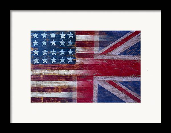 American Framed Print featuring the photograph American British Flag by Garry Gay