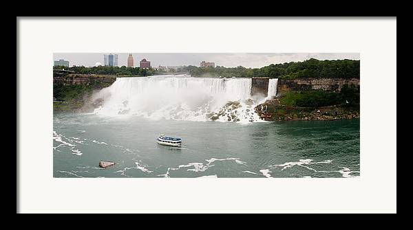 3scape Photos Framed Print featuring the photograph American Falls by Adam Romanowicz