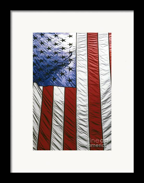 American Framed Print featuring the photograph American Flag by Tony Cordoza
