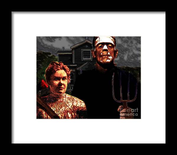 Home Framed Print featuring the photograph American Gothic Resurrection - Version 2 by Wingsdomain Art and Photography