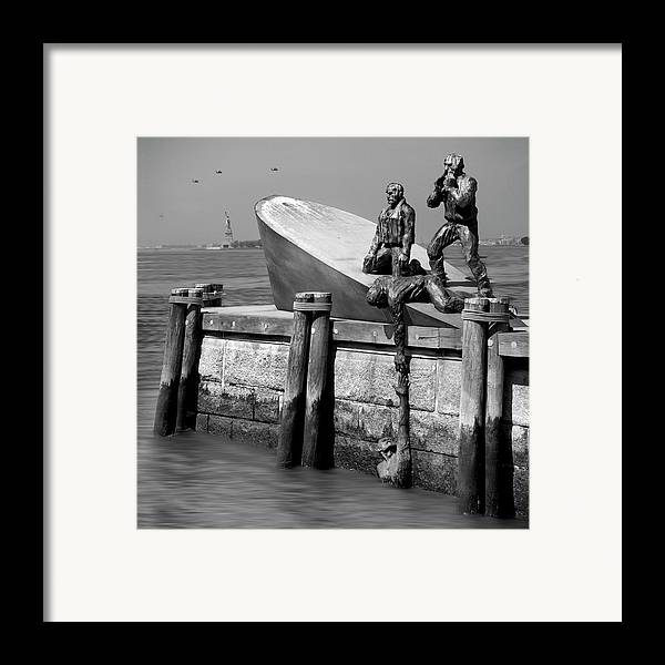 Landmarks Framed Print featuring the photograph American Merchant Mariners Memorial by Mike McGlothlen