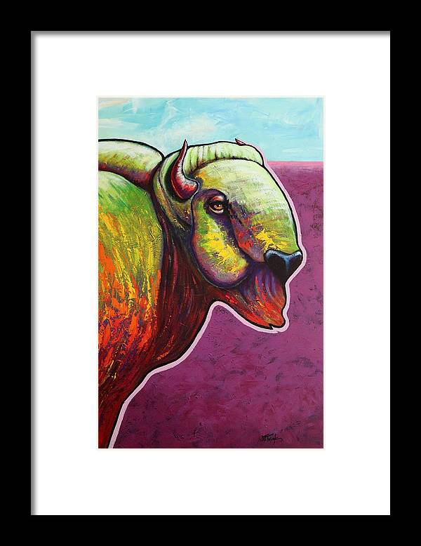 Wildlife Framed Print featuring the painting American Monarch by Joe Triano