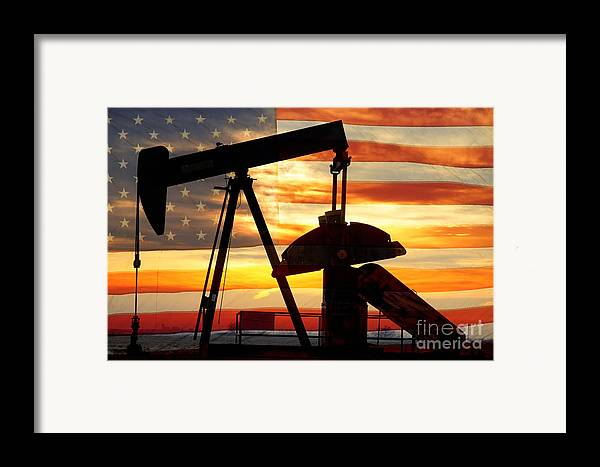 Oil Framed Print featuring the photograph American Oil by James BO Insogna