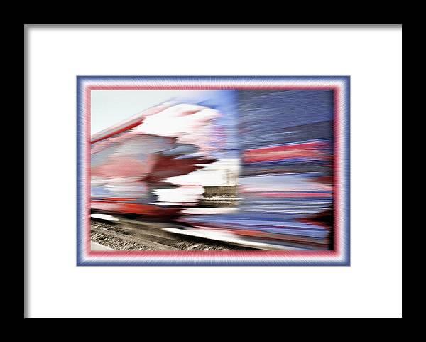 Rail Framed Print featuring the photograph American Rail by Steve Ohlsen
