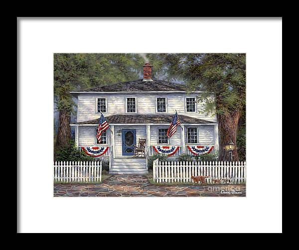 Partriotic Framed Print featuring the painting American Roots by Chuck Pinson