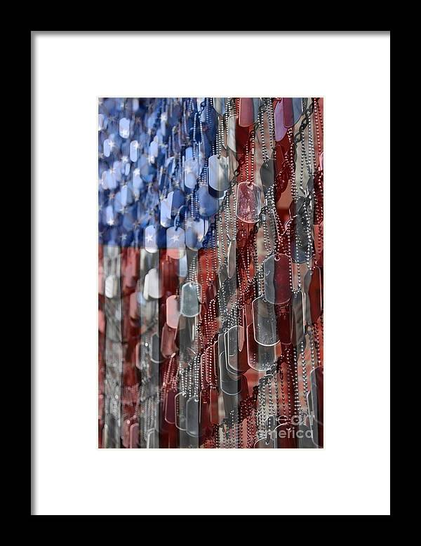 Patriotic Framed Print featuring the photograph American Sacrifice by DJ Florek