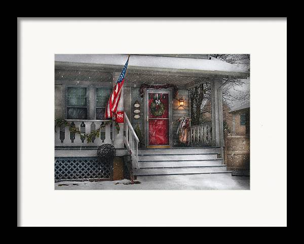 Savad Framed Print featuring the photograph Americana - A Tribute To Rockwell - Westfield Nj by Mike Savad