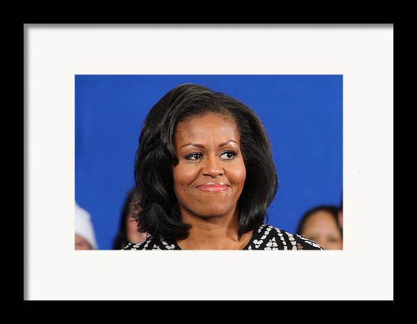 Michelle Framed Print featuring the photograph America's First Lady by Mike Stouffer