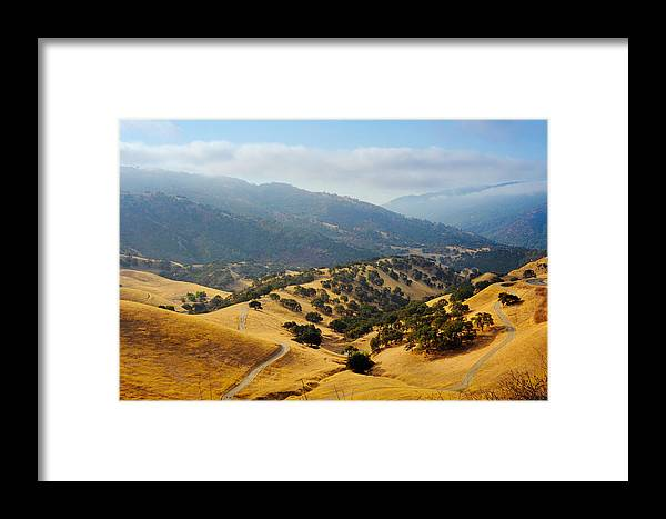 Del Valle Regional Park Framed Print featuring the photograph America's Tuscany by Kate Livingston