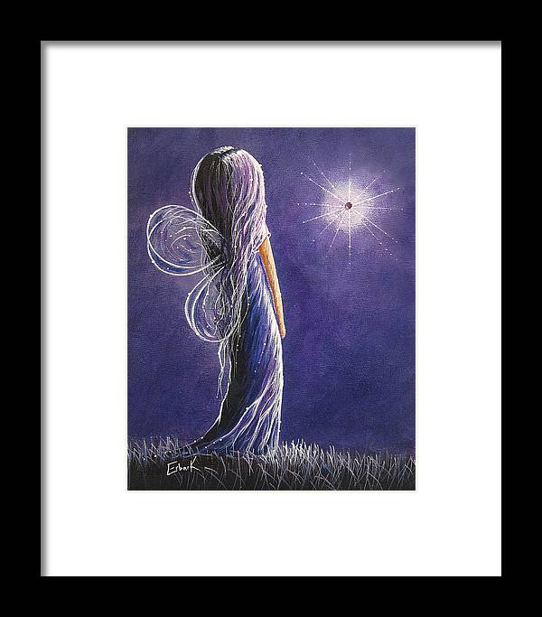 Fairies Framed Print featuring the painting Amethyst Fairy By Shawna Erback by Shawna Erback