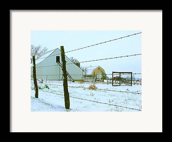 Amish Framed Print featuring the photograph Amish Farm In Winter by Julie Dant