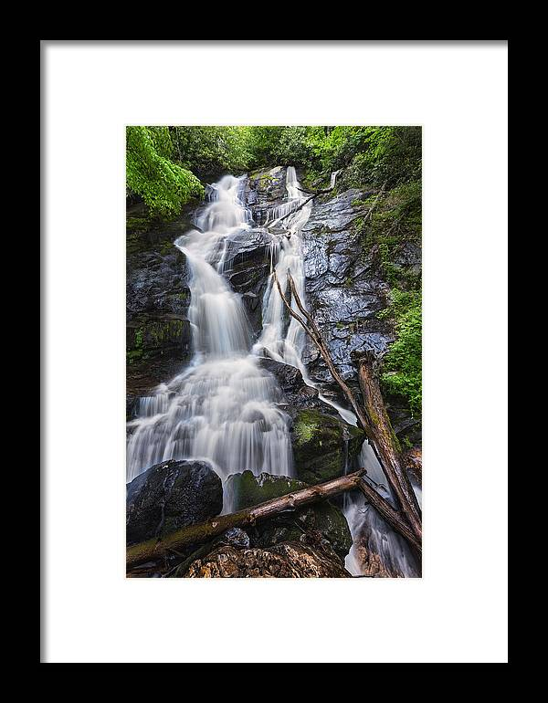Holcomb Framed Print featuring the photograph Ammons Falls by Alex Mironyuk