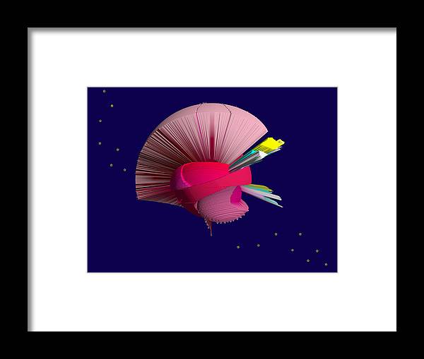 Stars Framed Print featuring the digital art Among The Atars by Elisabet Bondesson