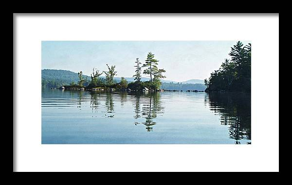 Among The Islands Framed Print featuring the photograph Among The Islands by Joy Nichols