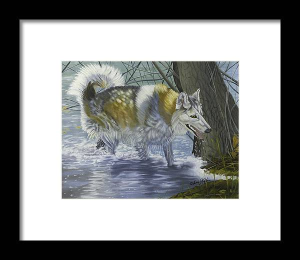 Animal Framed Print featuring the painting Amoni Rose by Lana Tyler