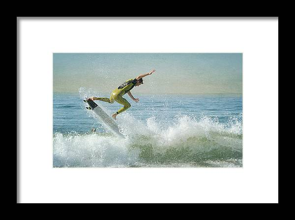 Surfer Framed Print featuring the photograph Amped by Fraida Gutovich