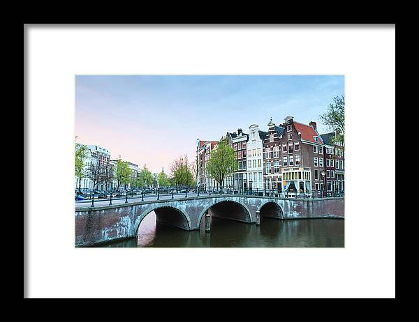 North Holland Framed Print featuring the photograph Amsterdam At Dusk by Fraser Hall