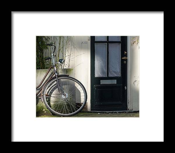 Art Framed Print featuring the photograph Amsterdam Bicycle #1 by Marinus Ortelee