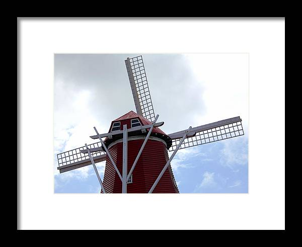 Amsterdam Framed Print featuring the photograph Amsterdam Windmill. by Oscar Williams