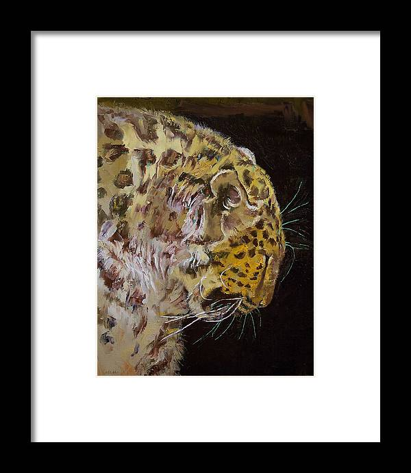 Amur Framed Print featuring the painting Amur Leopard by Michael Creese