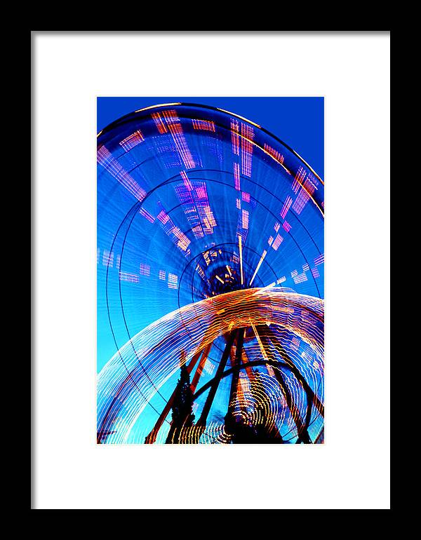 Amusement Park Framed Print featuring the photograph Amusement Park Rides 1 by Steve Ohlsen