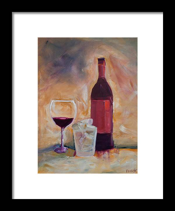 Red Framed Print featuring the painting An Afternoon Well Spent by Paulette B Wright